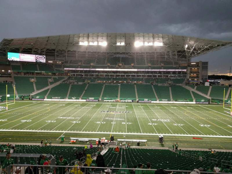 Seating view for Mosaic Stadium Section 314 Row 9 Seat 5