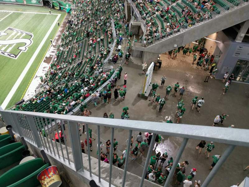 Seating view for Mosaic Stadium Section 530 Row 5 Seat 2