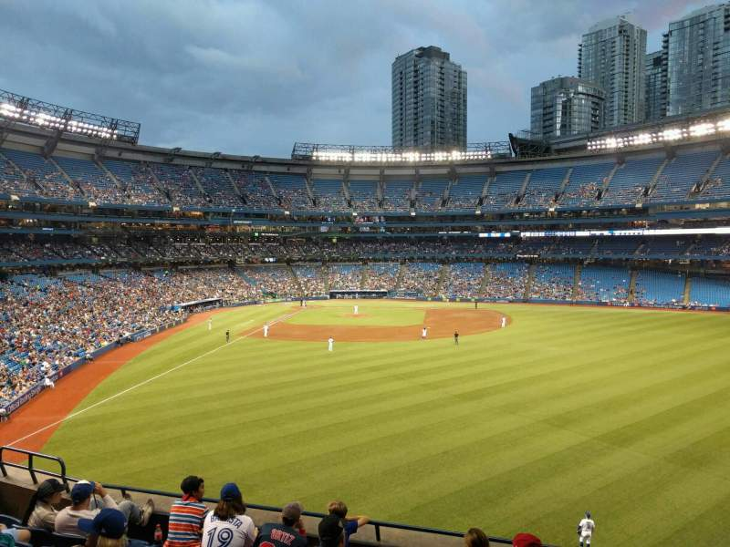 Seating view for Rogers Centre Section 206l Row 7 Seat 107