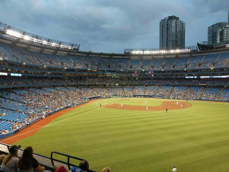Seating view for Rogers Centre Section 206r Row 5 Seat 5
