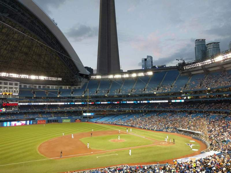 Seating view for Rogers Centre Section 231L Row 8 Seat 106