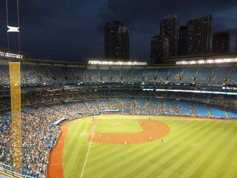 Seating view for Rogers Centre Section 508L Row 8 Seat 104