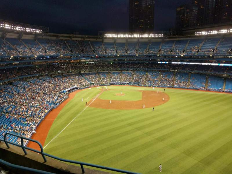 Seating view for Rogers Centre Section 507r Row 4 Seat 6