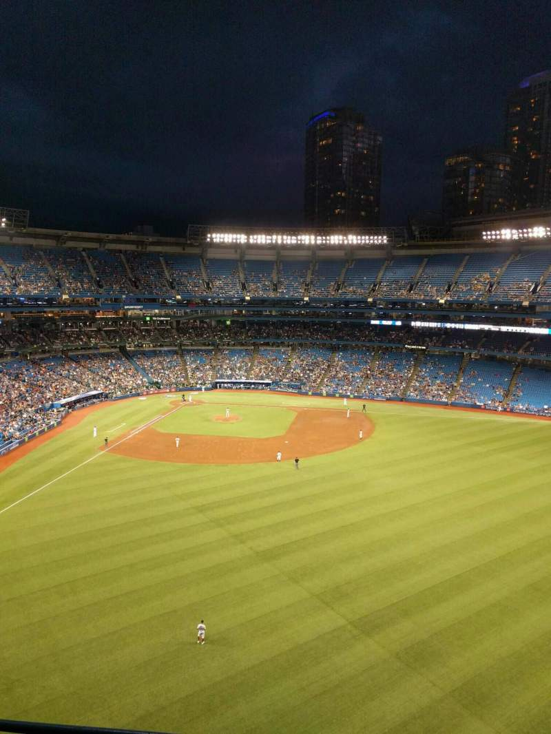 Seating view for Rogers Centre Section 505l Row 3 Seat 105