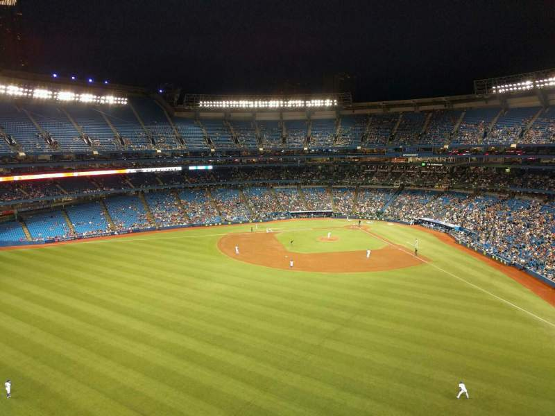 Seating view for Rogers Centre Section 543l Row 1 Seat 104