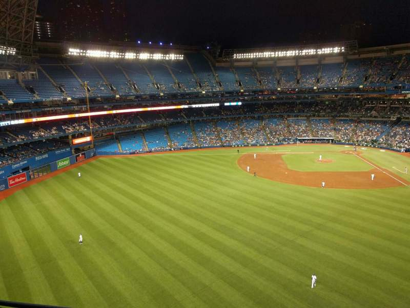 Seating view for Rogers Centre Section 543r Row 3 Seat 6