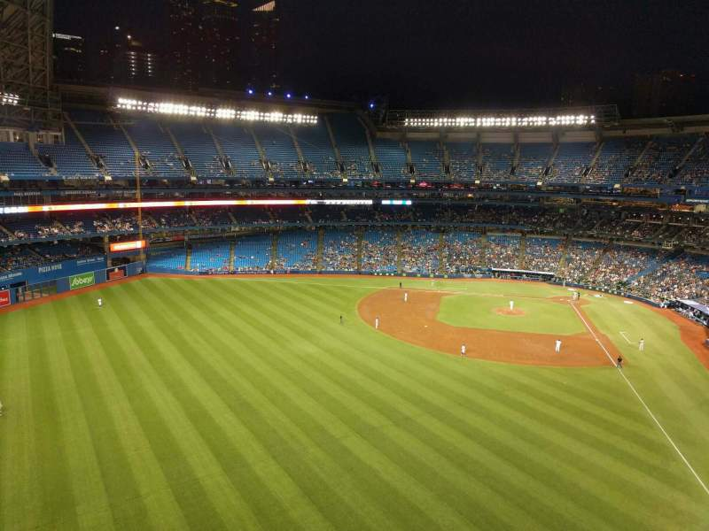 Seating view for Rogers Centre Section 541r Row 4 Seat 6