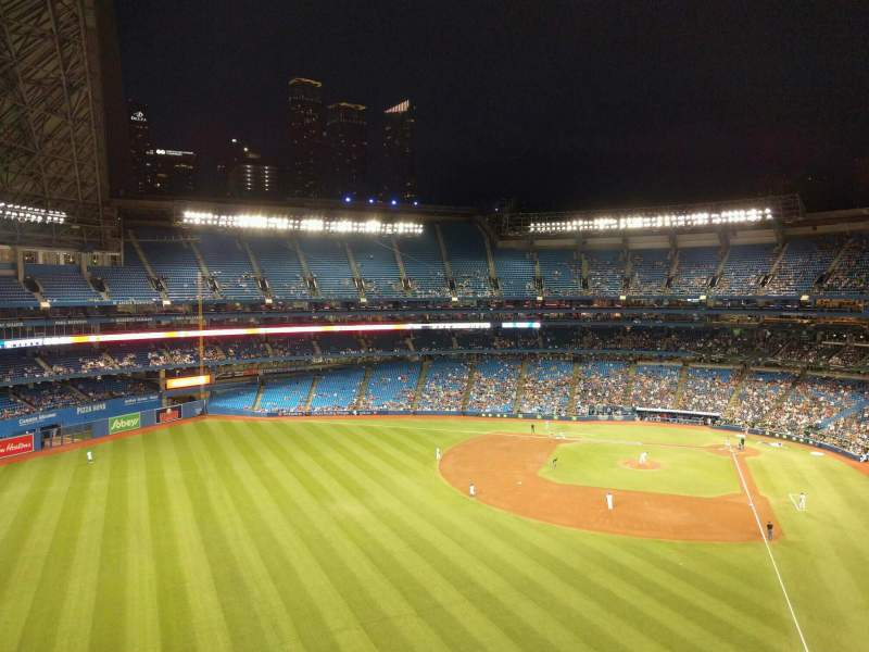 Seating view for Rogers Centre Section 540r Row 2 Seat 8