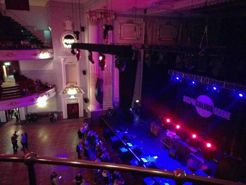 Seating view for Usher Hall Section grand circle Row b Seat 4
