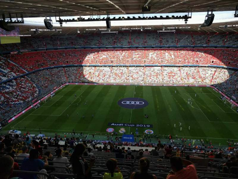Seating view for Allianz Arena Section 304 Row 22 Seat 8