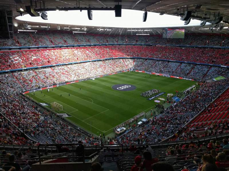 Seating view for Allianz Arena Section 345 Row 16 Seat 15