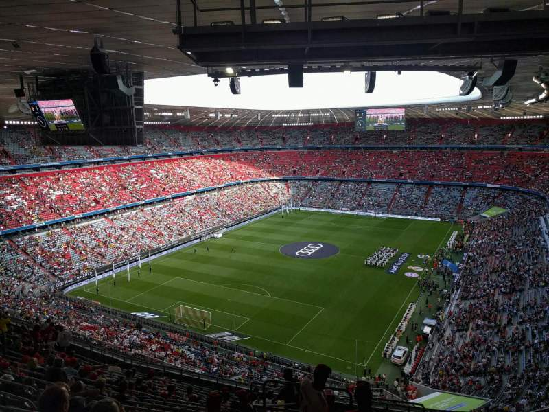 Seating view for Allianz Arena Section 343 Row 17 Seat 15