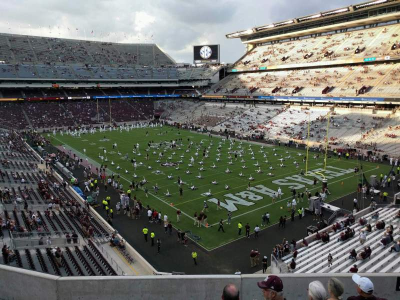 Seating view for Kyle Field Section 246 Row 7 Seat 14