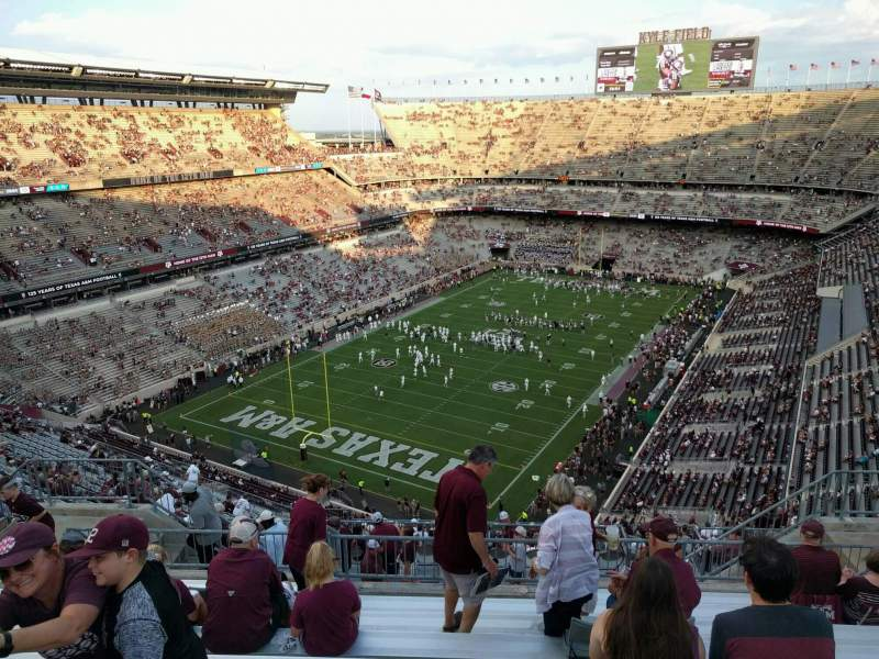 Seating view for Kyle Field Section 410 Row 10 Seat 12