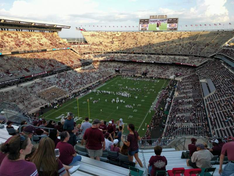 Seating view for Kyle Field Section 411 Row 15 Seat 13