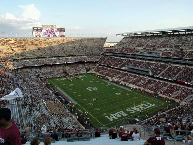 Seating view for Kyle Field Section 421 Row 18 Seat 9
