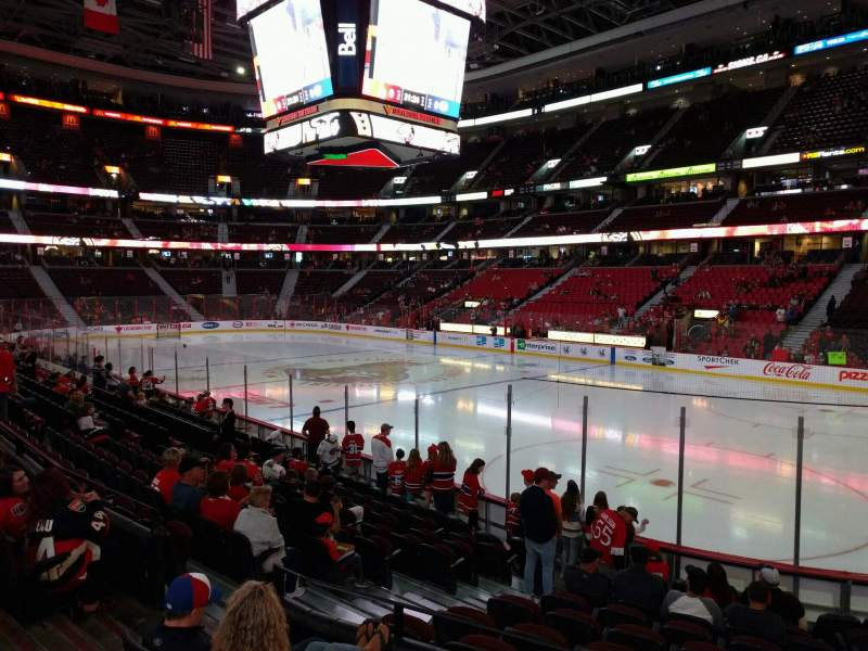 Seating view for Canadian Tire Centre Section 113 Row m Seat 16