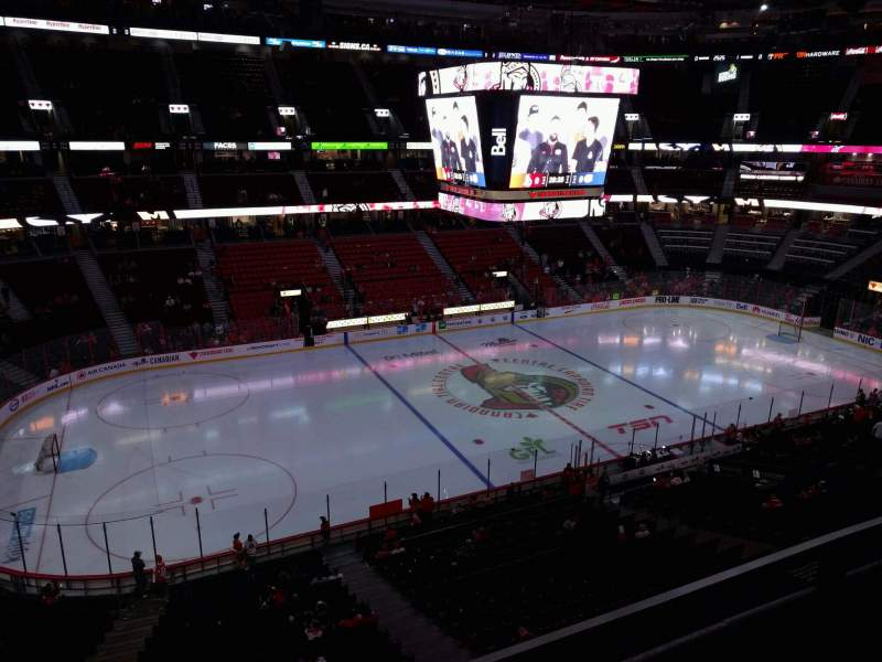 Seating view for Canadian Tire Centre Section 324 Row b Seat 8