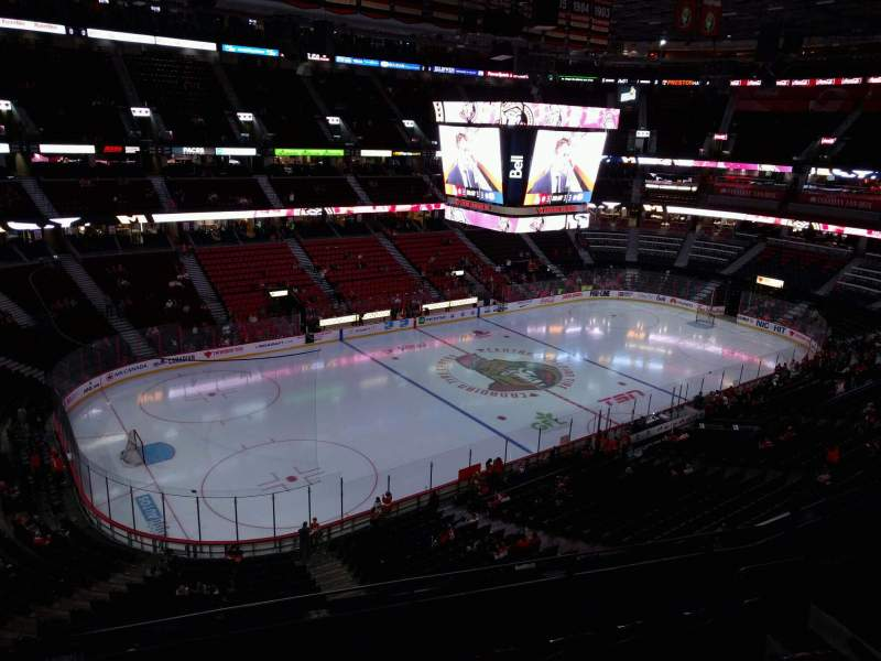 Seating view for Canadian Tire Centre Section 325 Row e Seat 8