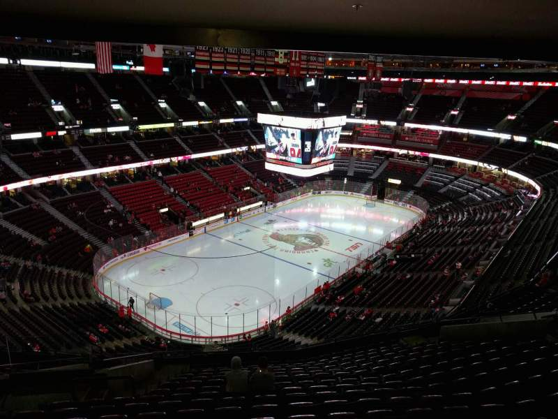 Seating view for Canadian Tire Centre Section 326 Row r Seat 26