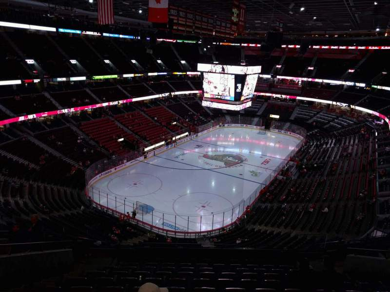 Seating view for Canadian Tire Centre Section 327 Row l Seat 13