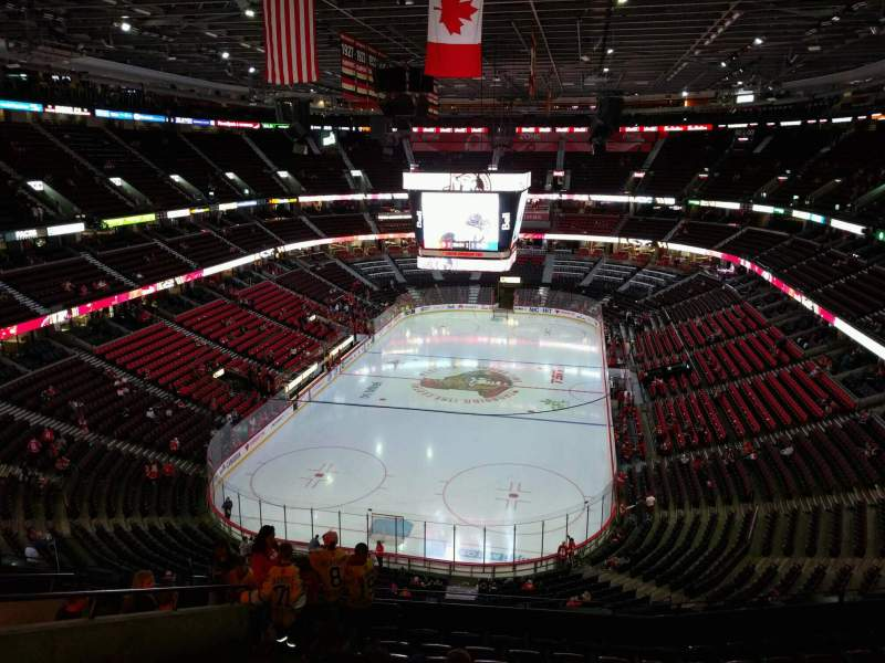 Seating view for Canadian Tire Centre Section 328 Row k Seat 21