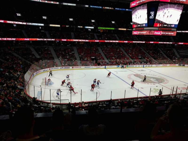 Seating view for Canadian Tire Centre Section 224 Row d Seat 18