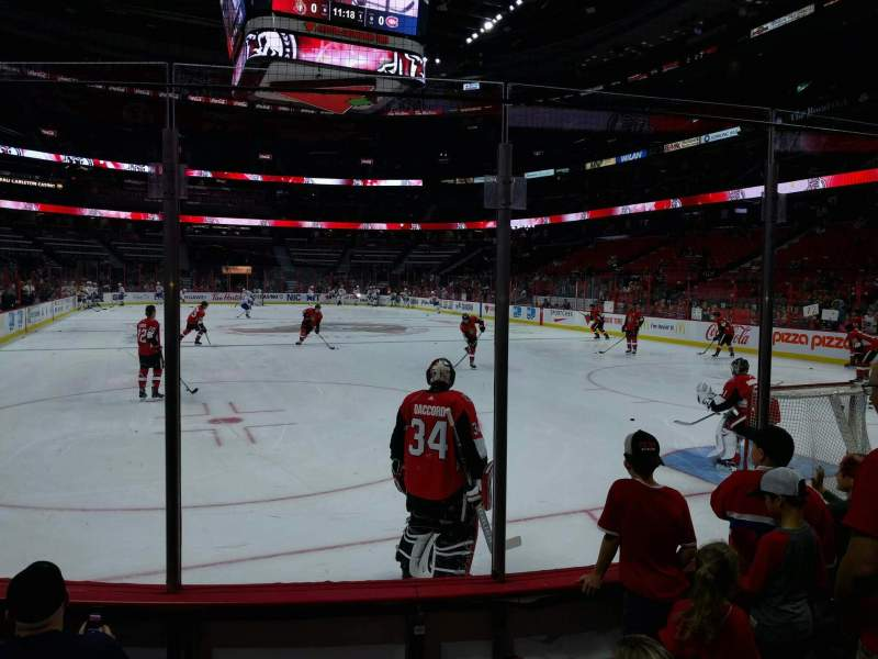Seating view for Canadian Tire Centre Section 102 Row d Seat 4