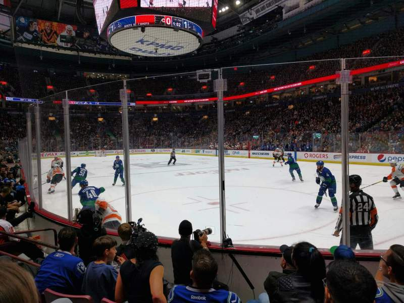 Seating view for Rogers Arena Section 103 Row 5 Seat 6