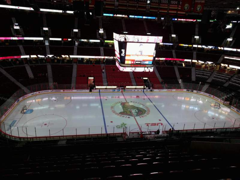 Seating view for Canadian Tire Centre Section 324 Row l Seat 14
