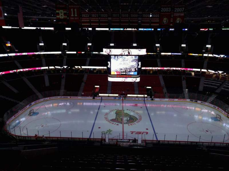 Seating view for Canadian Tire Centre Section 323 Row n Seat 14