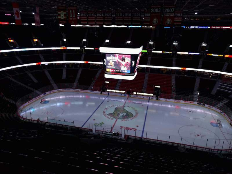 Seating view for Canadian Tire Centre Section 322 Row p Seat 14