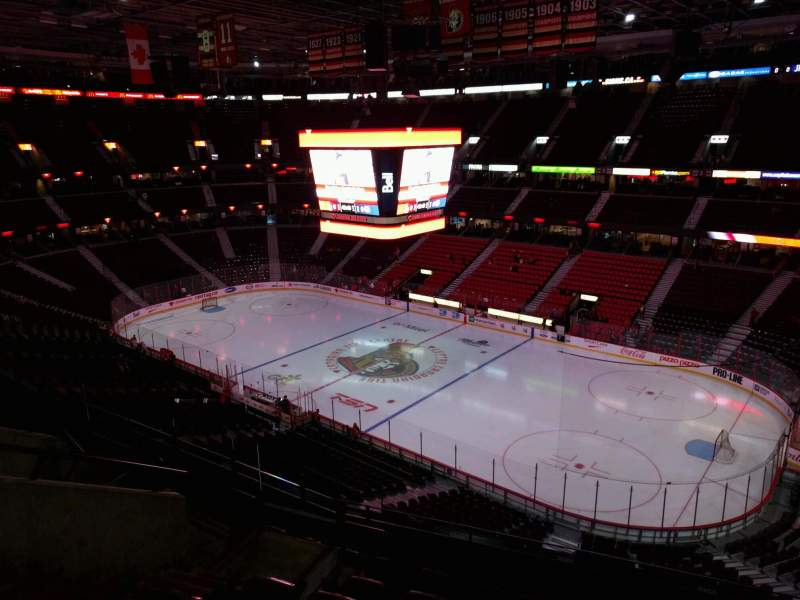Seating view for Canadian Tire Centre Section 320 Row g Seat 8