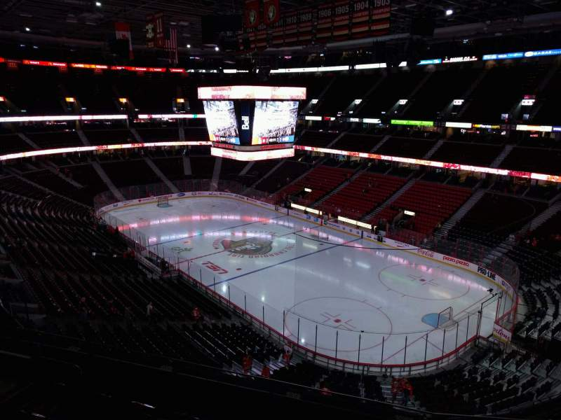 Seating view for Canadian Tire Centre Section 319 Row e Seat 13