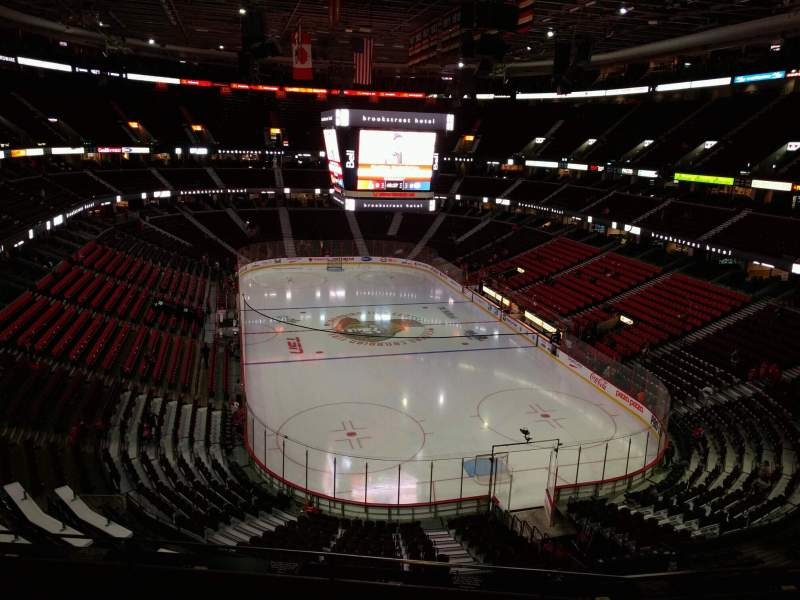 Seating view for Canadian Tire Centre Section 316 Row d Seat 12