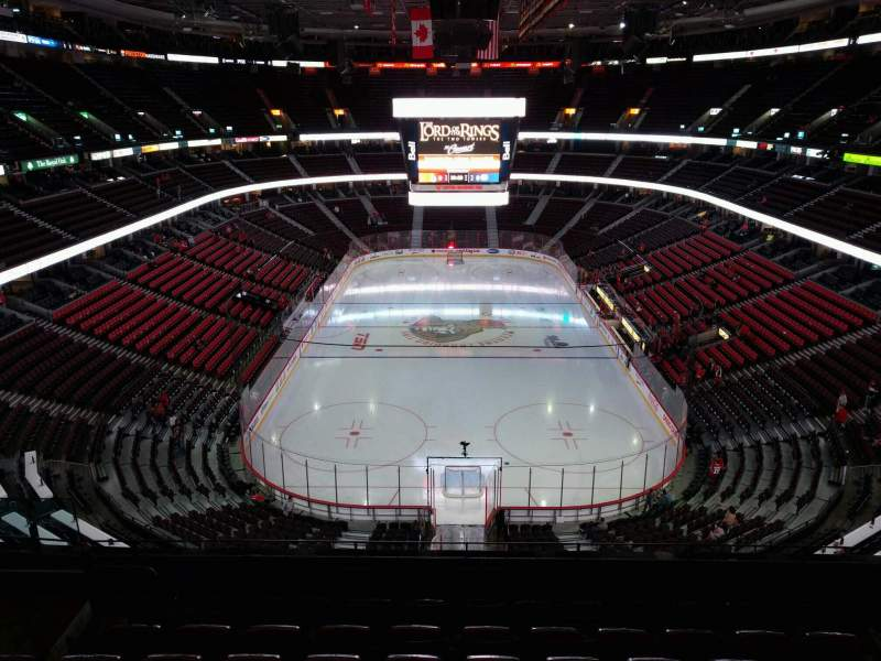 Seating view for Canadian Tire Centre Section 315 Row g Seat 9