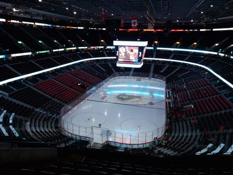 Seating view for Canadian Tire Centre Section 314 Row k Seat 16
