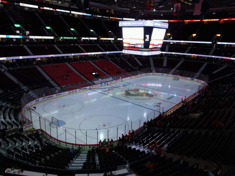 Seating view for Canadian Tire Centre Section 312 Row a Seat 14