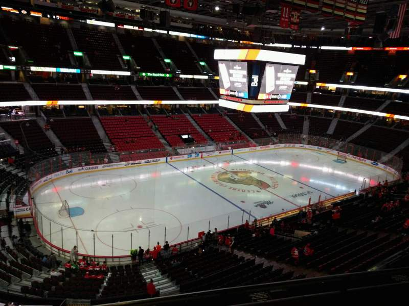 Seating view for Canadian Tire Centre Section 311 Row c Seat 7