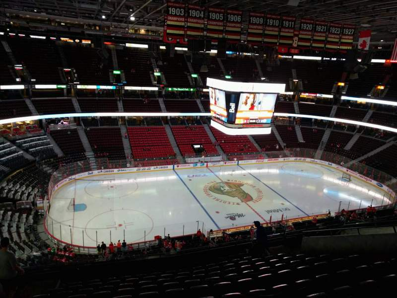 Seating view for Canadian Tire Centre Section 310 Row m Seat 16