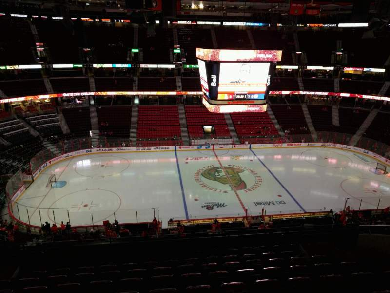 Seating view for Canadian Tire Centre Section 309 Row j Seat 11