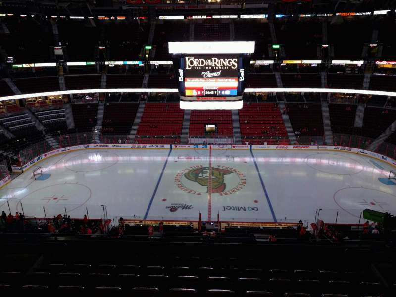 Seating view for Canadian Tire Centre Section 308 Row h Seat 10