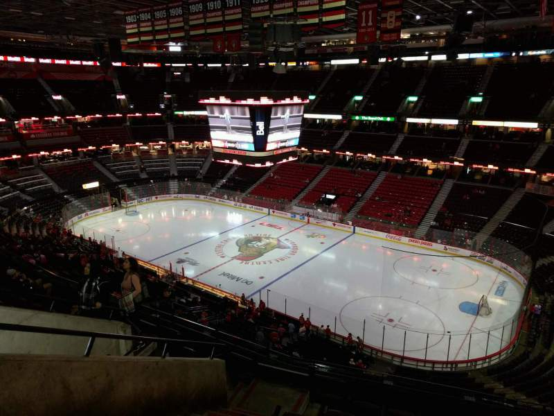 Seating view for Canadian Tire Centre Section 305 Row h Seat 14