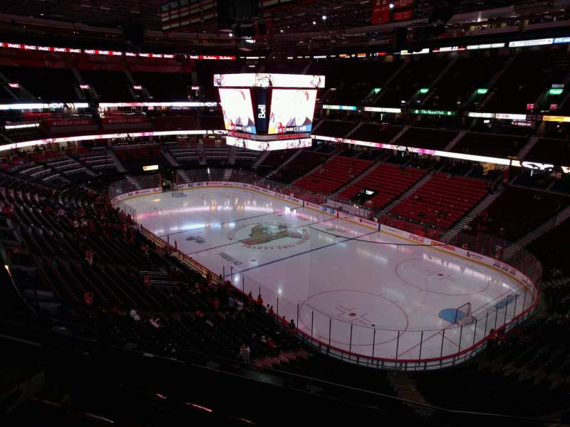 Seating view for Canadian Tire Centre Section 304 Row e Seat 11