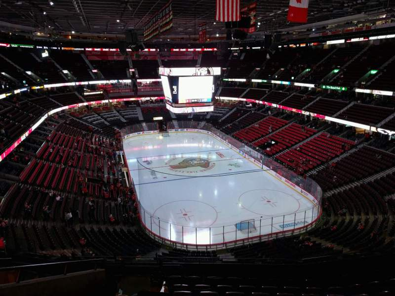 Seating view for Canadian Tire Centre Section 302 Row j Seat 21