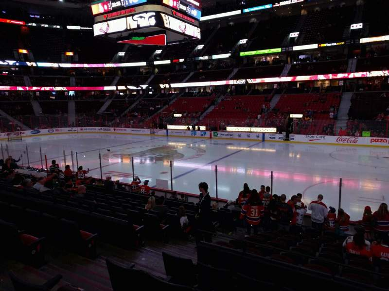 Seating view for Canadian Tire Centre Section 114 Row n Seat 10