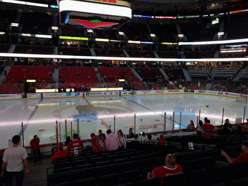Seating view for Canadian Tire Centre Section 116 Seat 18