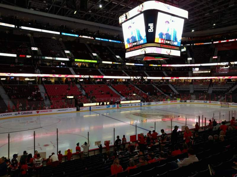 Seating view for Canadian Tire Centre Section 118 Row r Seat 15