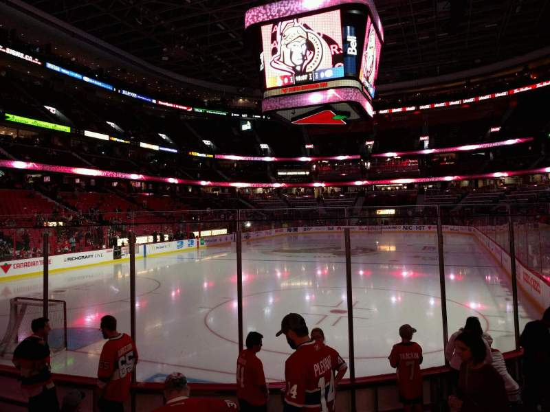 Seating view for Canadian Tire Centre Section 120 Row g Seat 7