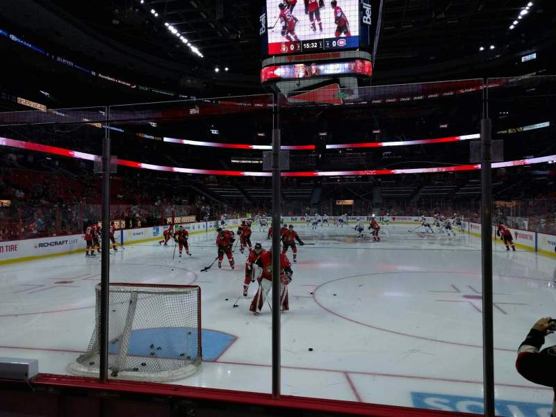 Seating view for Canadian Tire Centre Section 101 Row d Seat 2